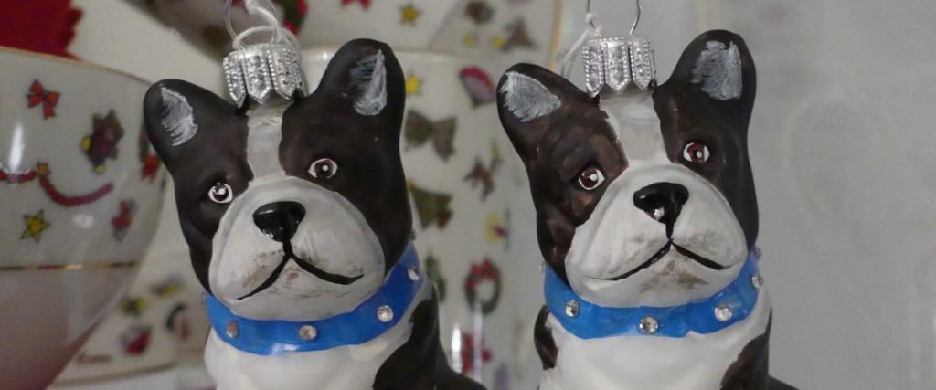 Weihnachtsbaum Anhänger französische Bulldogge 1200